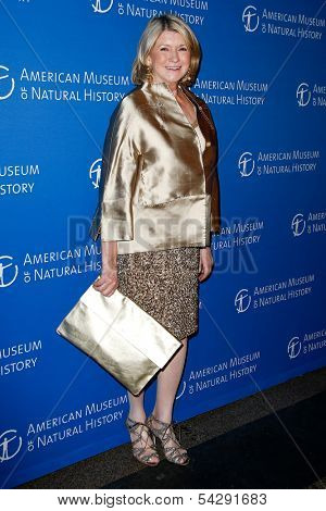 NEW YORK-NOV 21; Martha Stewart attends the American Museum of Natural History's 2013 Museum Gala at American Museum of Natural History on November 21, 2013 in New York City.