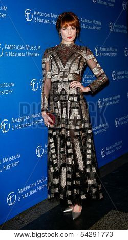 NEW YORK-NOV 21; Singer Florence Welch attends the American Museum of Natural History's 2013 Museum Gala at American Museum of Natural History on November 21, 2013 in New York City.