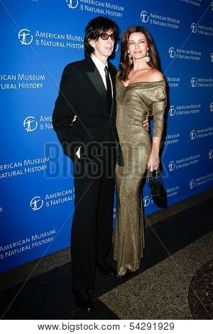 NEW YORK-NOV 21; Model Paulina Porizkova (R) and Ric Ocasek attend American Museum of Natural History's 2013 Museum Gala at American Museum of Natural History on November 21, 2013 in New York City.