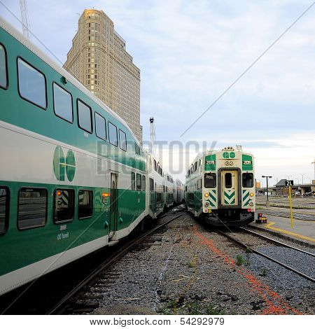 Passenger trains.