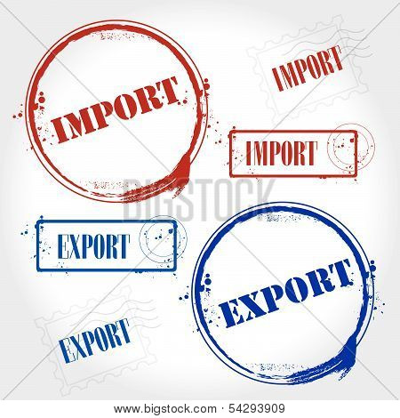stamp import and export