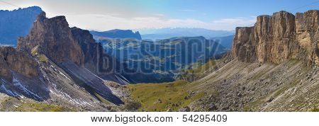 panorama of dolomites mountains