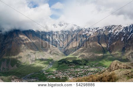 View of Stepantsminda ( Kazbegi ) village