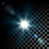 stock photo of diffraction  - Vector glowing light effect star bursts with sparkles on transparent background - JPG