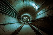 stock photo of tunnel  - underground metro facility - JPG