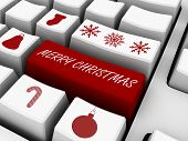 Computer Keyboard - Business Holiday Concept. Email Gifts
