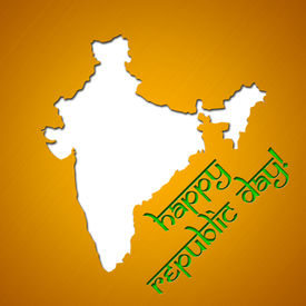 pic of asoka  - Graphic design Republic Day in India related in shape of country silhouette - JPG
