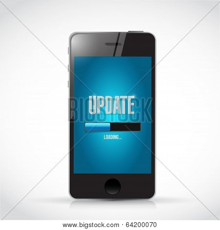 Update Your Smart Phone Illustration Design