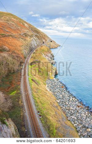 Railway Next To The Coast
