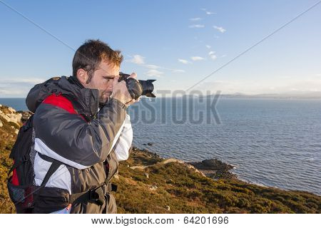 Young Adult Photographing