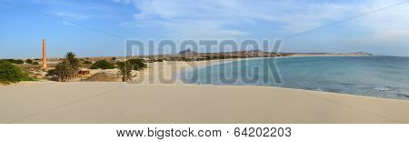 Panorama Of Praia De Chaves Beach, Boa Vista, Cape Verde