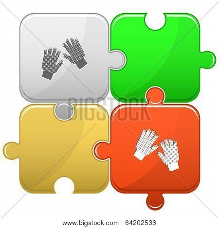 Gauntlets. Vector puzzle.