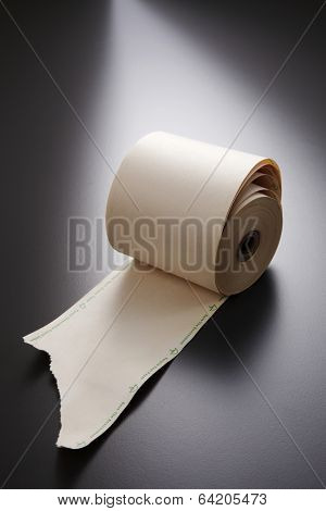roll of the adding machine tape