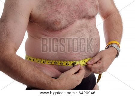 Over Weight Man With Tape