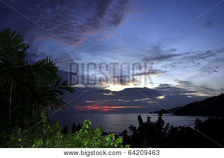 Patong beach afterglow