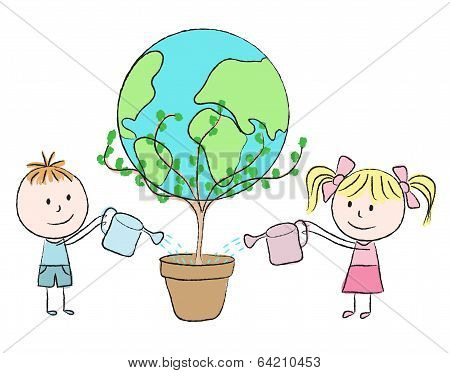 Kids Growing A Planet