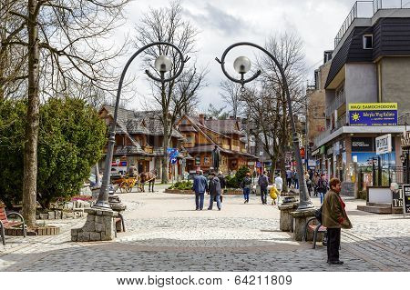 Krupowki Main Street In Zakopane