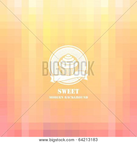 Colorful mosaic sweets background