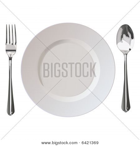 Flatwares Fork Plate Spoon