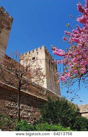 Castle tower, Granada, Spain.
