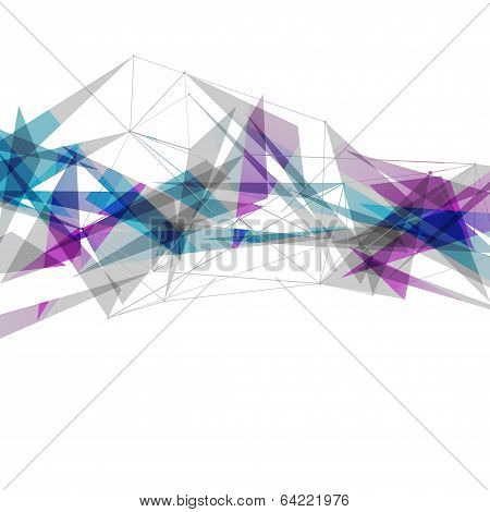 Abstract Connections Modern Bright Background