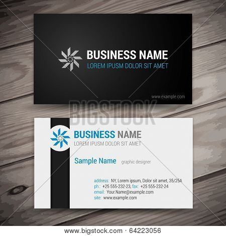 Vector abstract creative business cards (set template)