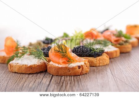 canape, buffet food
