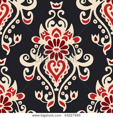 Luxury Damask seamles tiled motif vector pattern