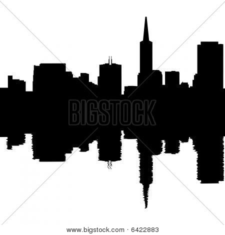San Francisco Skyline Reflected