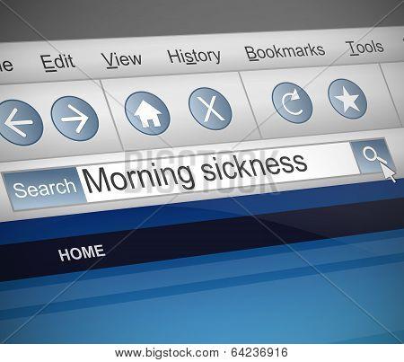 Morning Sickness Concept.