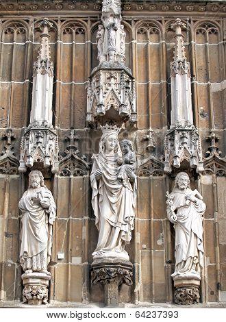 Beautiful Statues At Aachen, Germany