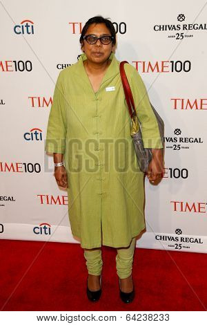 NEW YORK-APR 29: Sex trafficking abolitionist Ruchira Gupta attend the Time 100 Gala for the Most Influential People at the Frederick P. Rose Hall at Lincoln Center on April 29, 2014 in New York City.