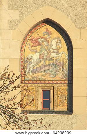 Mosaic at the Torhaus Meissen, Germany