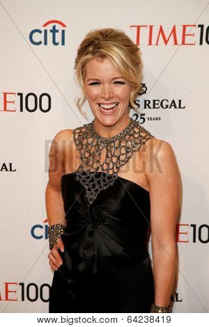 NEW YORK-APR 29: News reporter Megyn Kelly attends the Time 100 Gala for the Most Influential People in the World at the Frederick P. Rose Hall at Lincoln Center on April 29, 2014 in New York City.