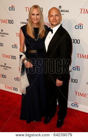 NEW YORK-APR 29: Inventor Tony Fadell (R) and Danielle Lambert attend the Time 100 Gala for the  Most Influential People at Frederick P. Rose Hall at Lincoln Center on April 29, 2014 in New York City.