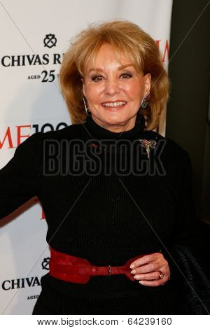 NEW YORK-APR 29: TV host Barbara Walters attends the Time 100 Gala for the Most Influential People in the World at the Frederick P. Rose Hall at Lincoln Center on April 29, 2014 in New York City.