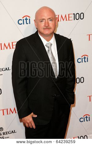 NEW YORK-APR 29: Retired astronaut Mark Kelly attends the Time 100 Gala for the Most Influential People in the World at the Frederick P. Rose Hall at Lincoln Center on April 29, 2014 in New York City.