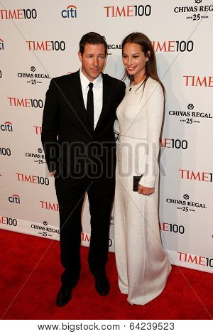 NEW YORK-APR 29: Actor Ed Burns (L) & Christy Turlington Burns attend the Time 100 Gala for the Most Influential People at Frederick P. Rose Hall at Lincoln Center on April 29, 2014 in New York City.