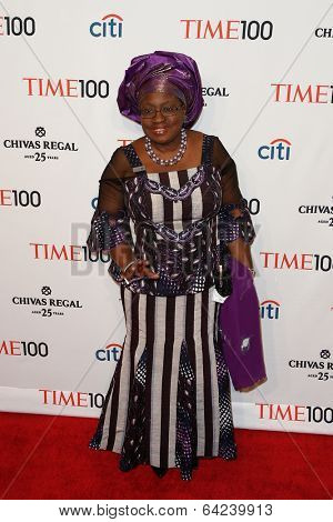 NEW YORK-APR 29: Economist Ngozi Okonjo-Iweala attends the Time 100 Gala for the  Most Influential People in the World at Frederick P. Rose Hall at Lincoln Center on April 29, 2014 in New York City.