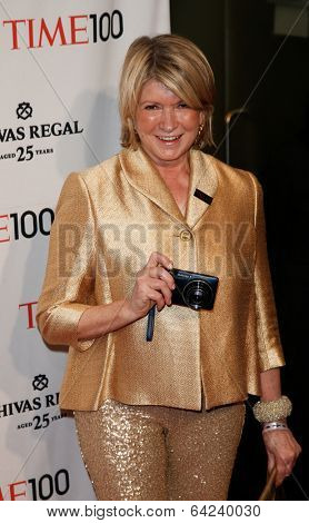 NEW YORK-APR 29: Martha Stewart attends the Time 100 Gala for the Most Influential People in the World at the Frederick P. Rose Hall, Home of Jazz at Lincoln Center on April 29, 2014 in New York City.
