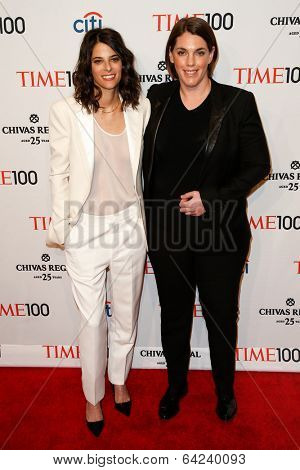 NEW YORK-APR 29: Megan Ellison (R) & Robyn Shapiro attend the Time 100 Gala for the Most Influential People in the World at Frederick P. Rose Hall at Lincoln Center on April 29, 2014 in New York City.