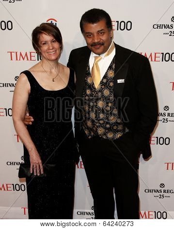 NEW YORK-APR 29: Alice Young (L) and astrophysicist Neil deGrasse Tyson attend the Time 100 Gala for the Most Influential People at Frederick P. Rose Hall on April 29, 2014 in New York City.