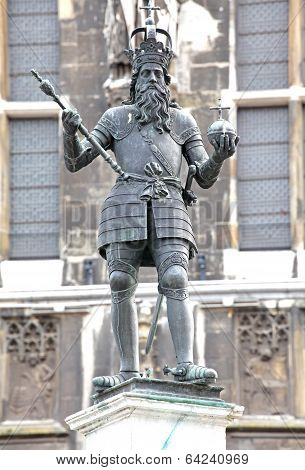 Statue At Aachen, Germany