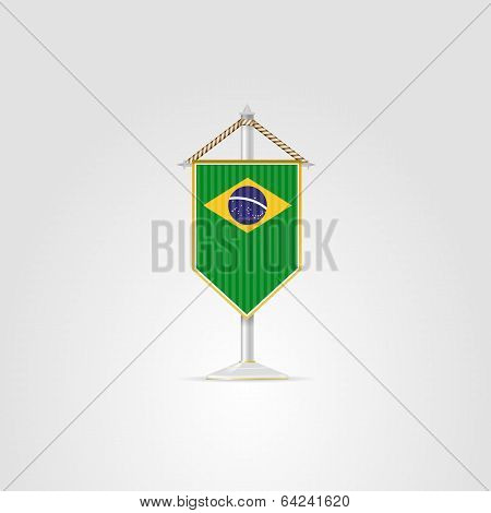 Illustration of national symbols of South America countries. Brazil.