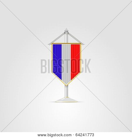 Illustration of national symbols of European countries. France.