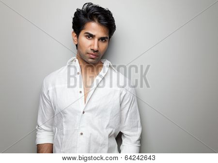 Portrait Of A Handsome Indian Man