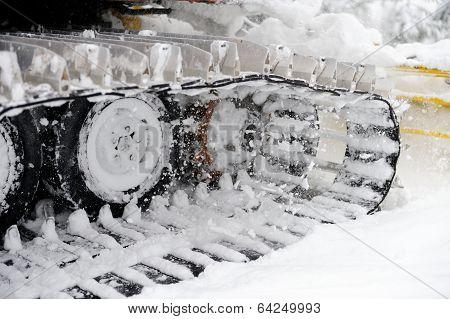 Closeup Shot Of Snowplow Used