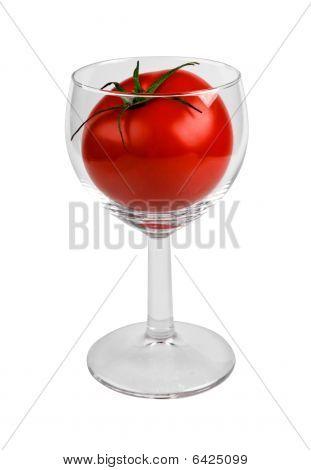 Tomato in glass