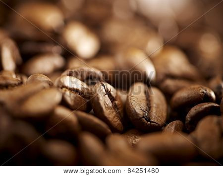Coffee Beans Background Close Up