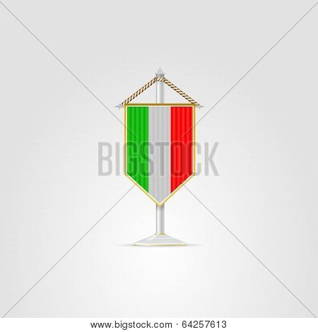Illustration of national symbols of European countries. Italy.